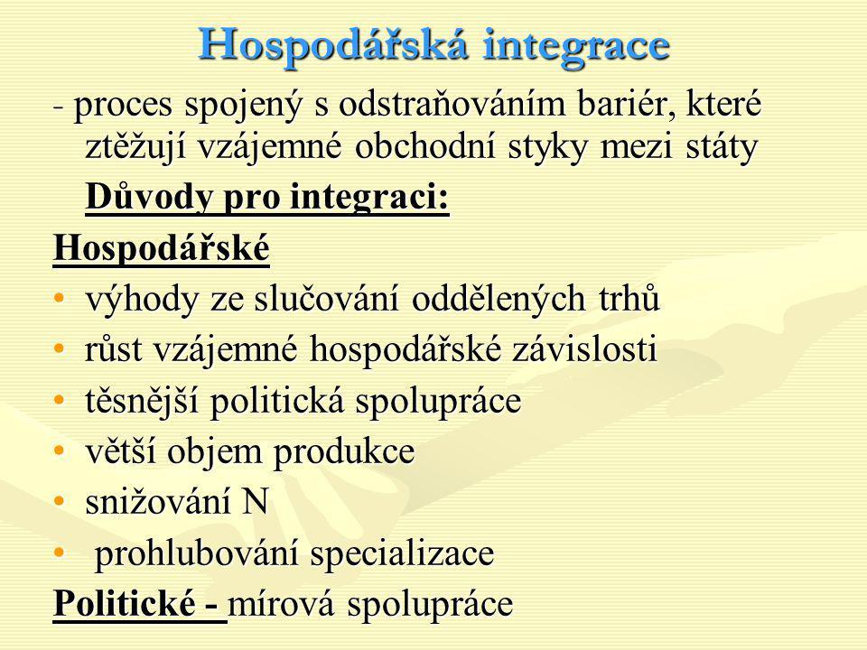 Hospodářská integrace
