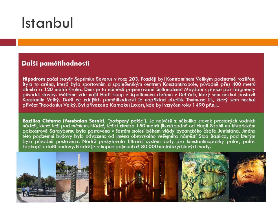 Istanbul Další pamětihodnosti