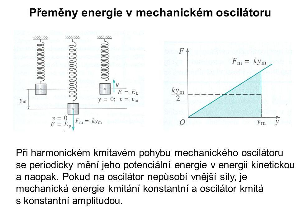 Přeměny energie v mechanickém oscilátoru