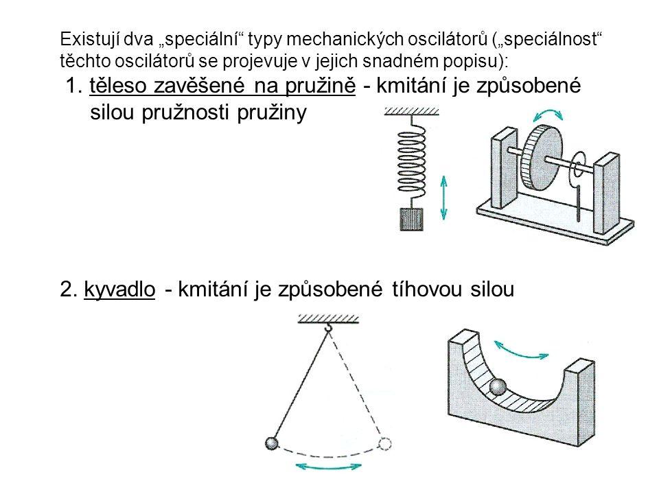 2. kyvadlo - kmitání je způsobené tíhovou silou