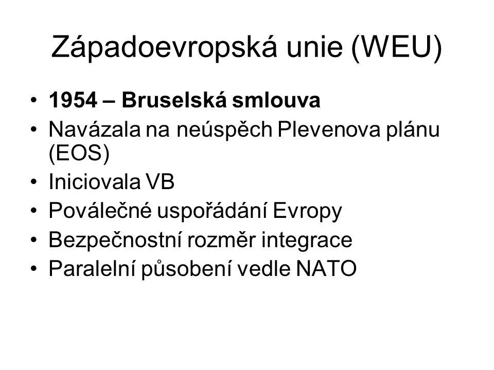 Západoevropská unie (WEU)