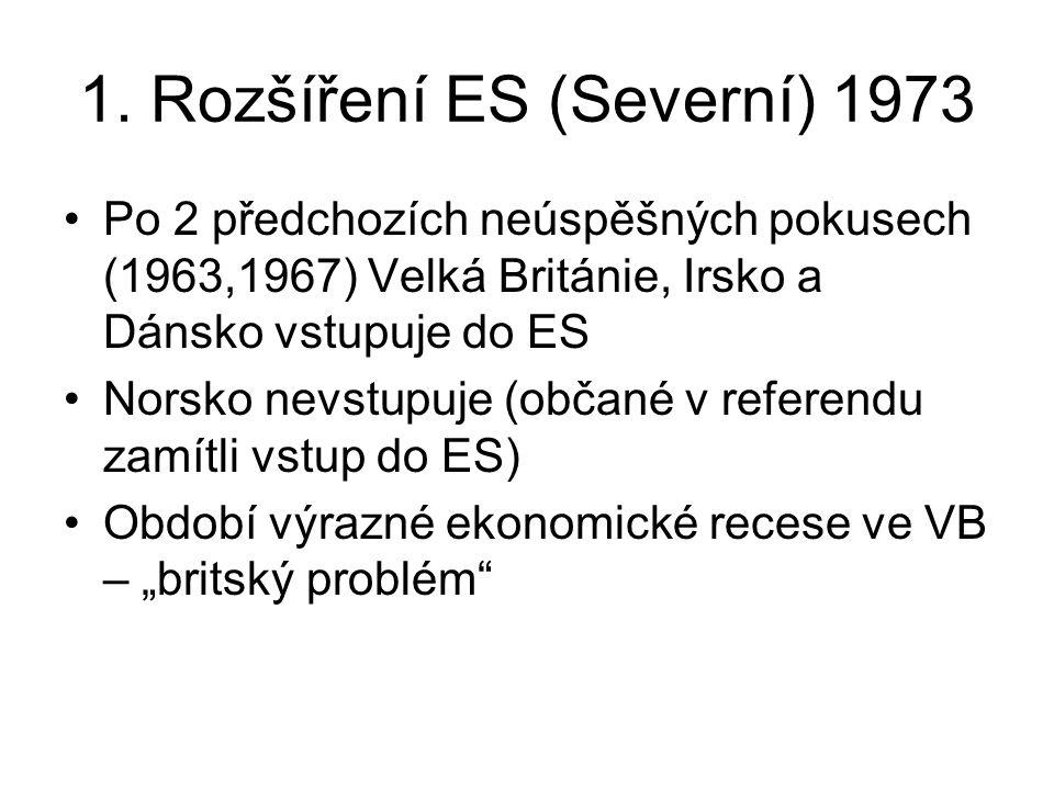 1. Rozšíření ES (Severní) 1973