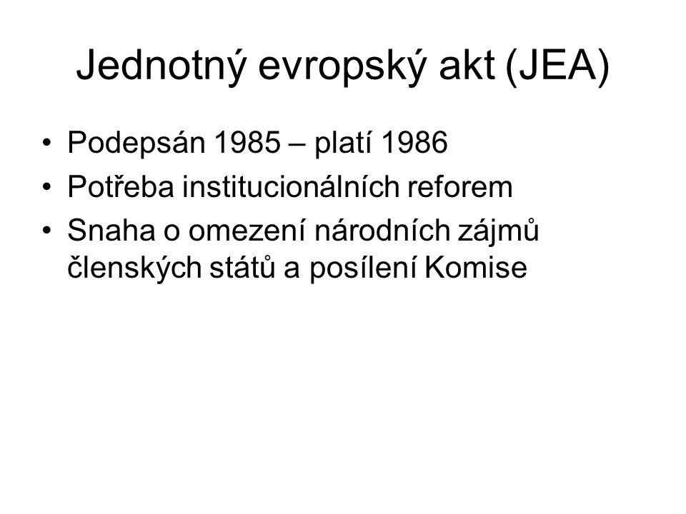 Jednotný evropský akt (JEA)