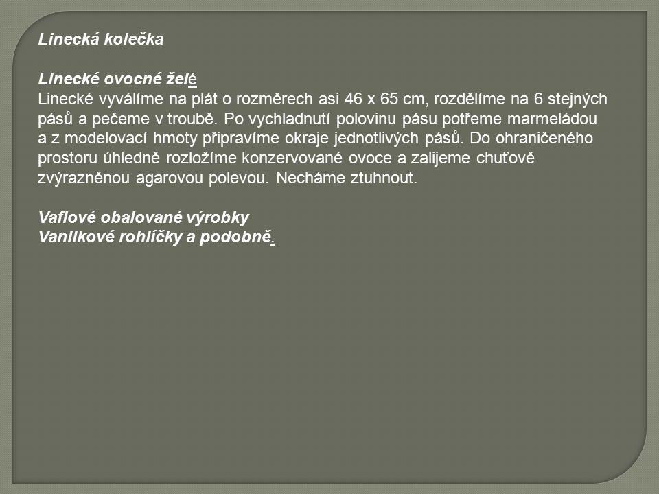 Linecká kolečka Linecké ovocné želé.