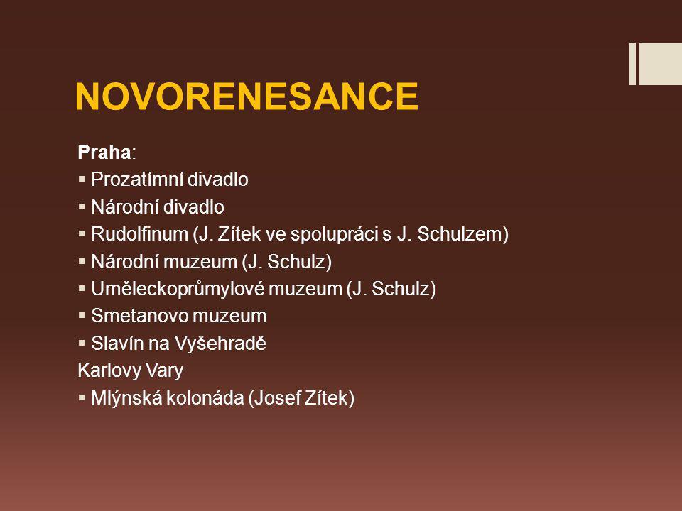 NOVORENESANCE Praha: Prozatímní divadlo Národní divadlo