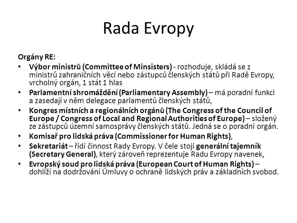 Rada Evropy Orgány RE: