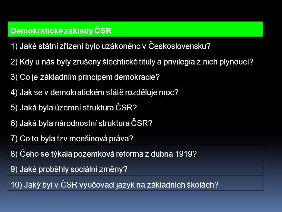 Demokratické základy ČSR