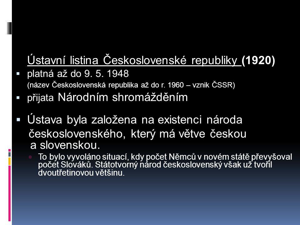 Ústavní listina Československé republiky (1920)