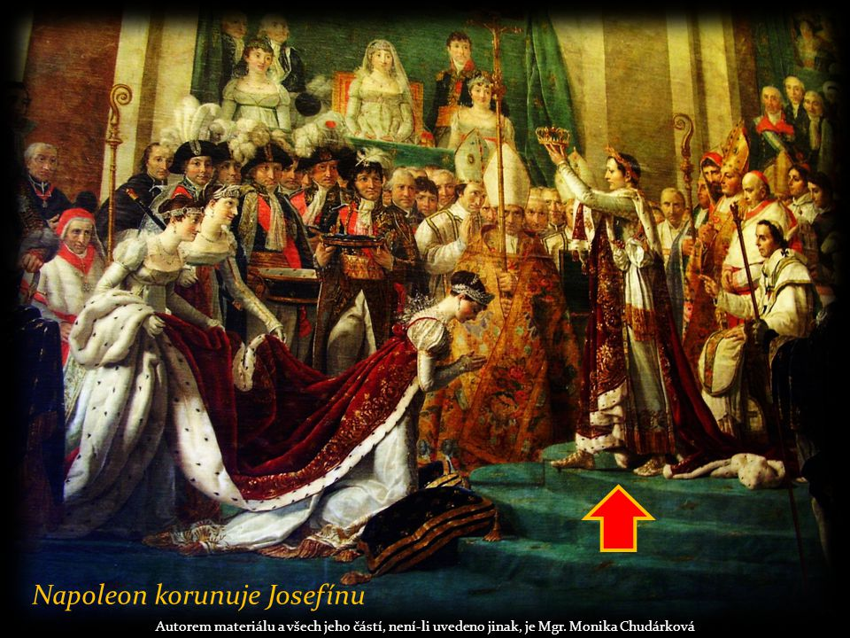 Napoleon korunuje Josefínu