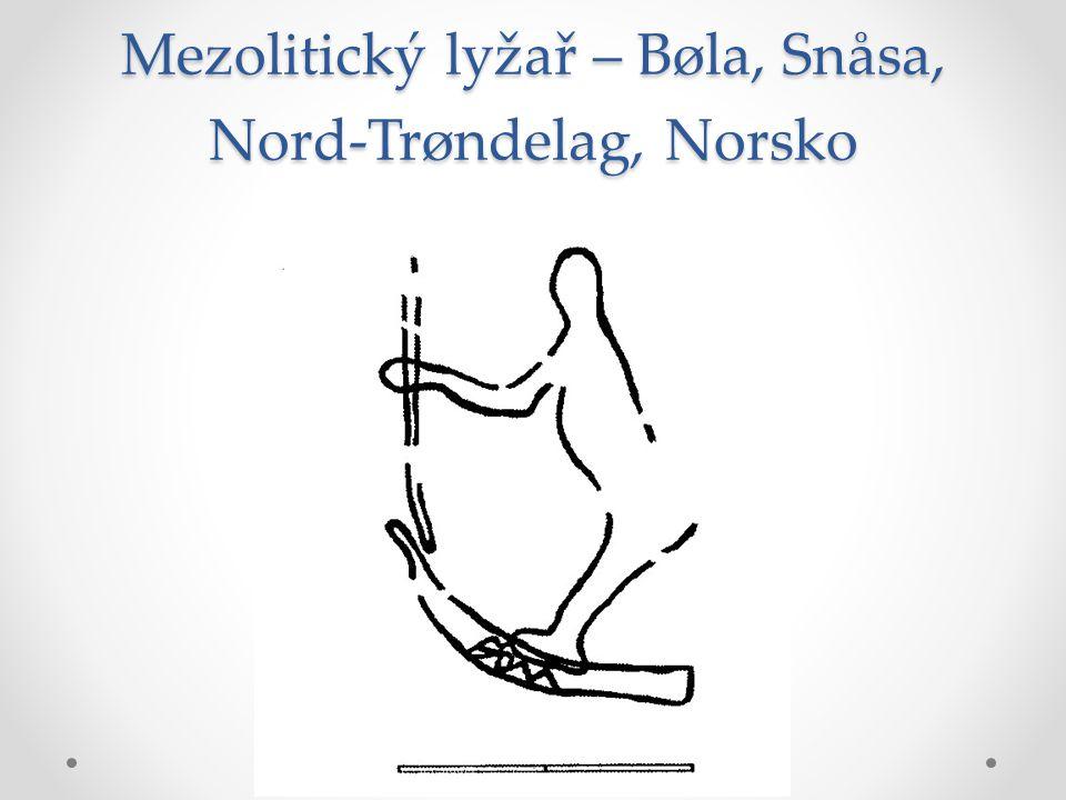 Mezolitický lyžař – Bøla, Snåsa, Nord-Trøndelag, Norsko