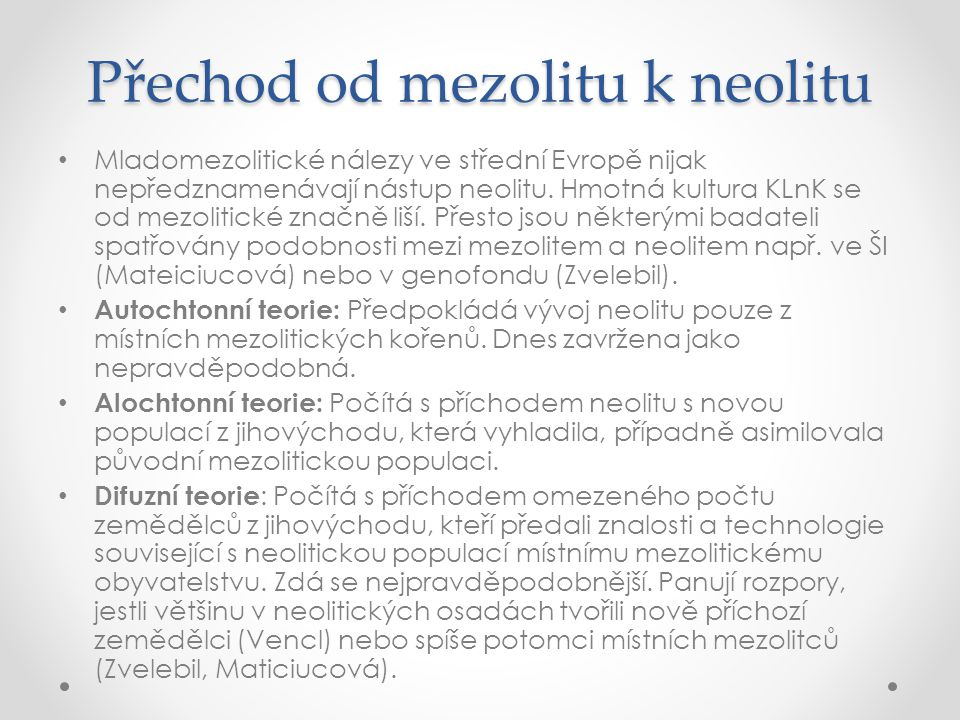 Přechod od mezolitu k neolitu