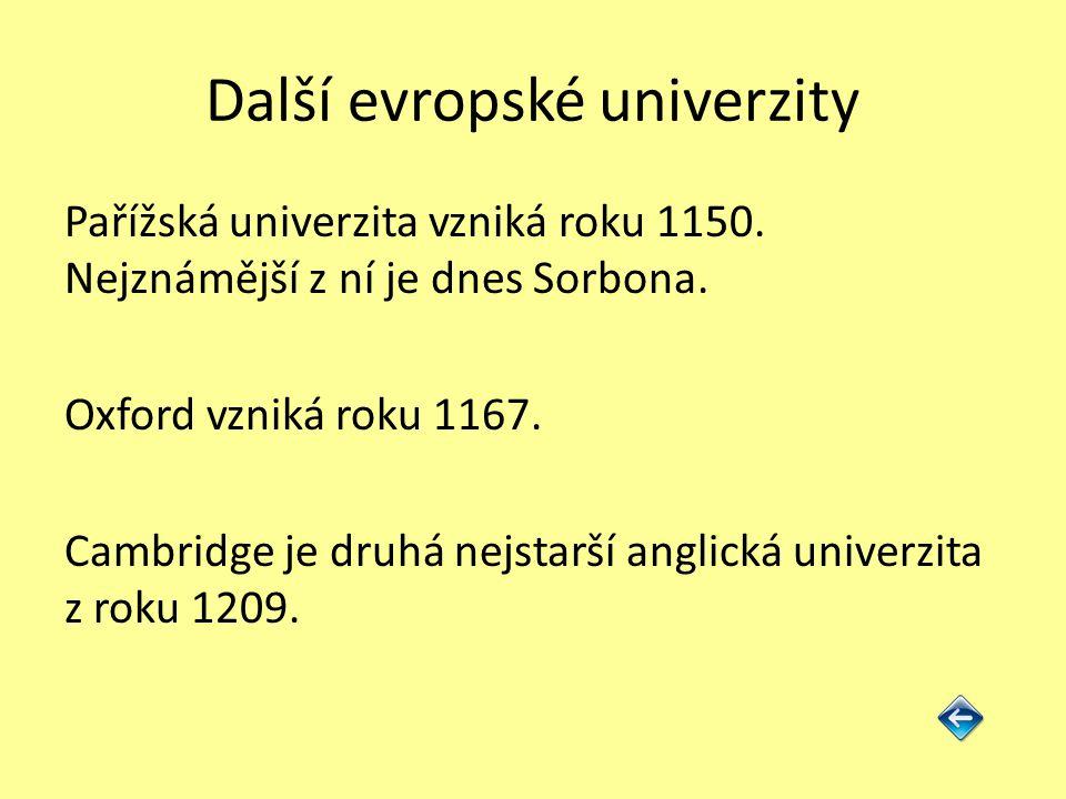 Další evropské univerzity