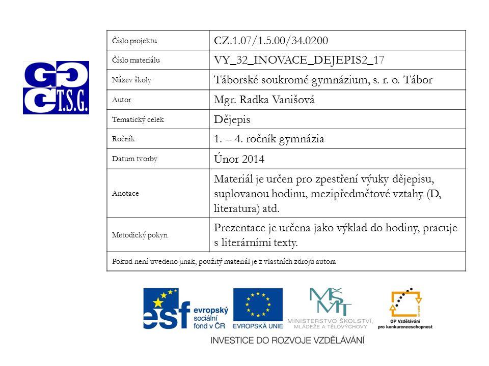 VY_32_INOVACE_DEJEPIS2_17 Táborské soukromé gymnázium, s. r. o. Tábor