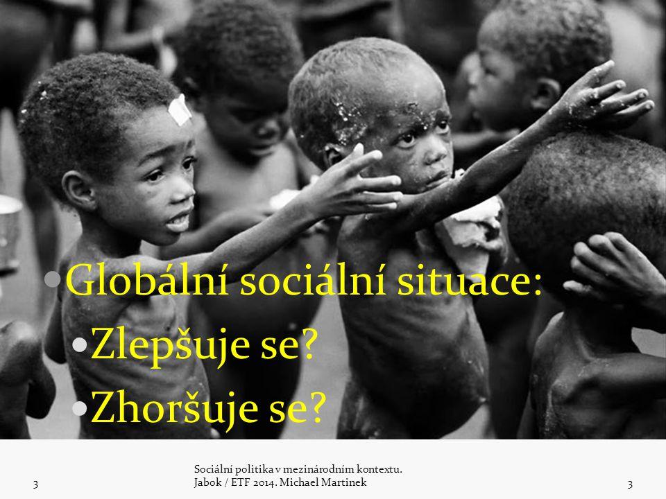 Globální sociální situace: Zlepšuje se Zhoršuje se