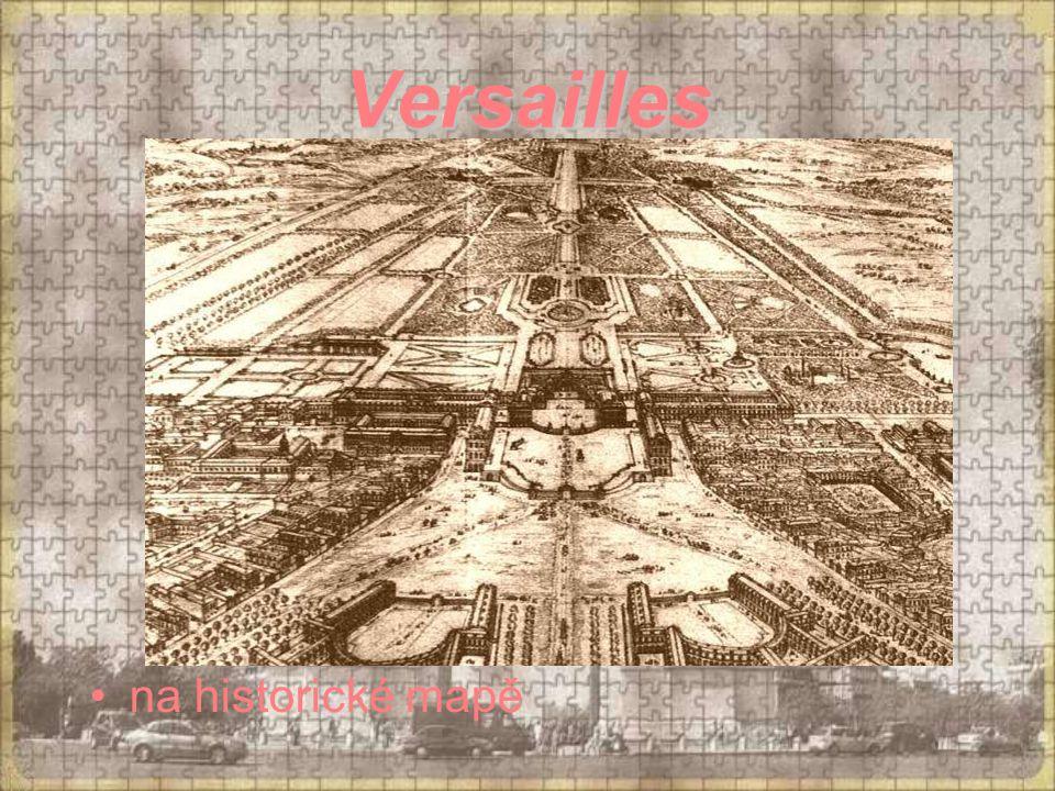 Versailles na historické mapě