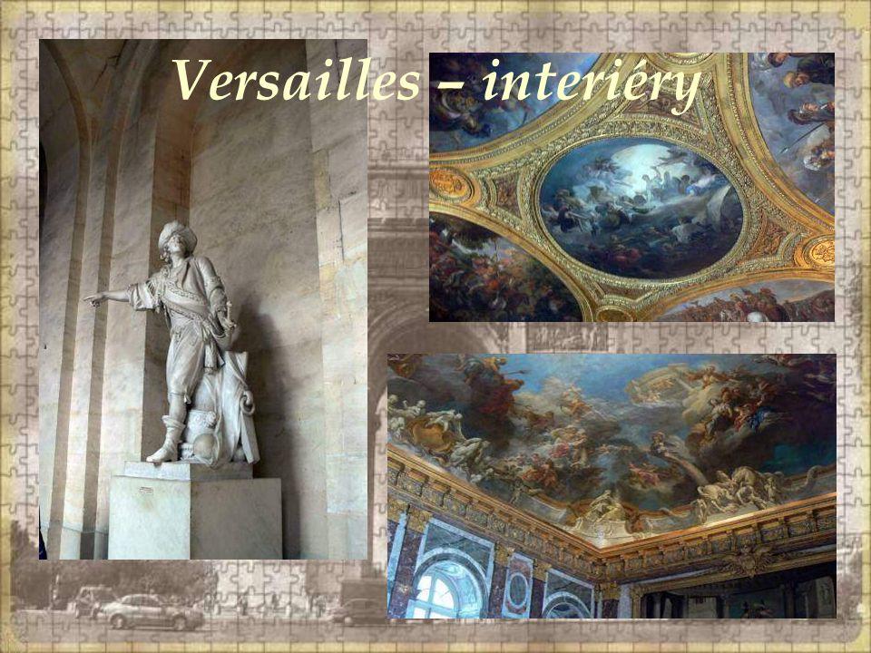 Versailles – interiéry