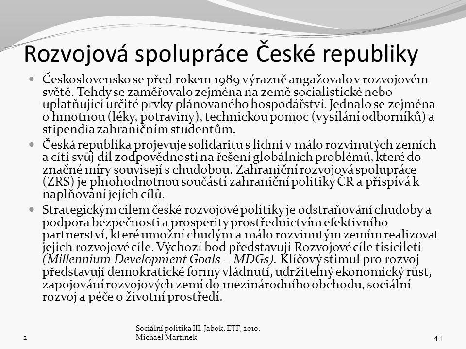 Rozvojová spolupráce České republiky