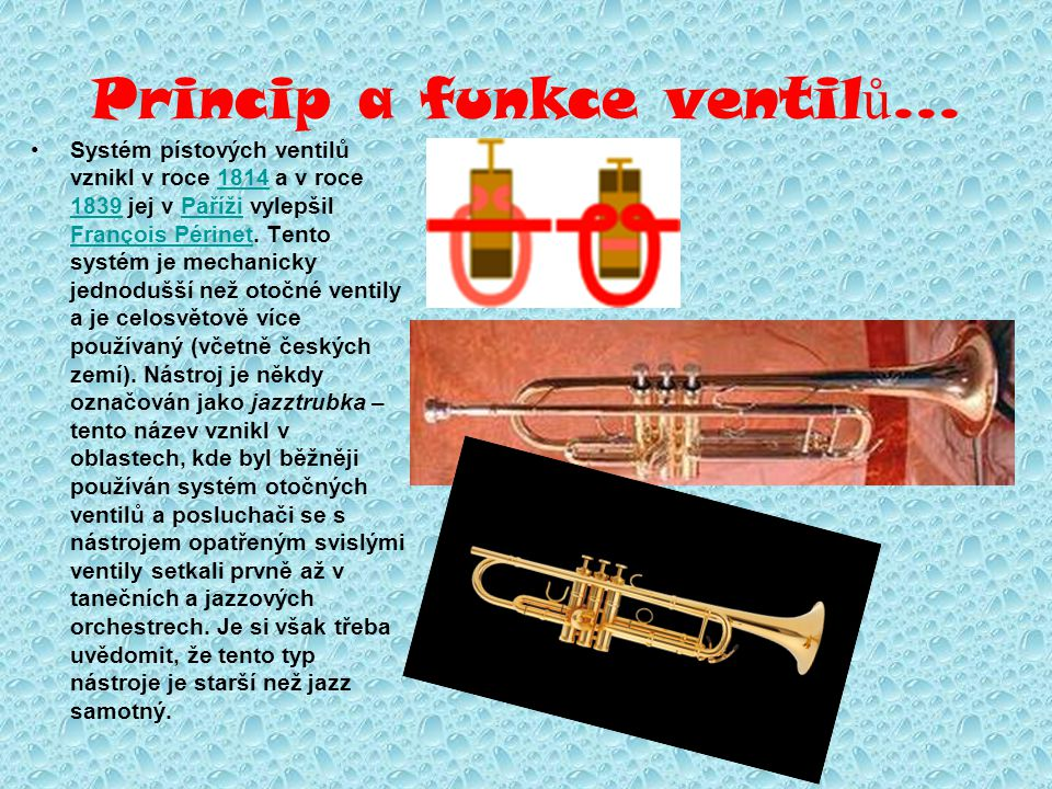 Princip a funkce ventilů...