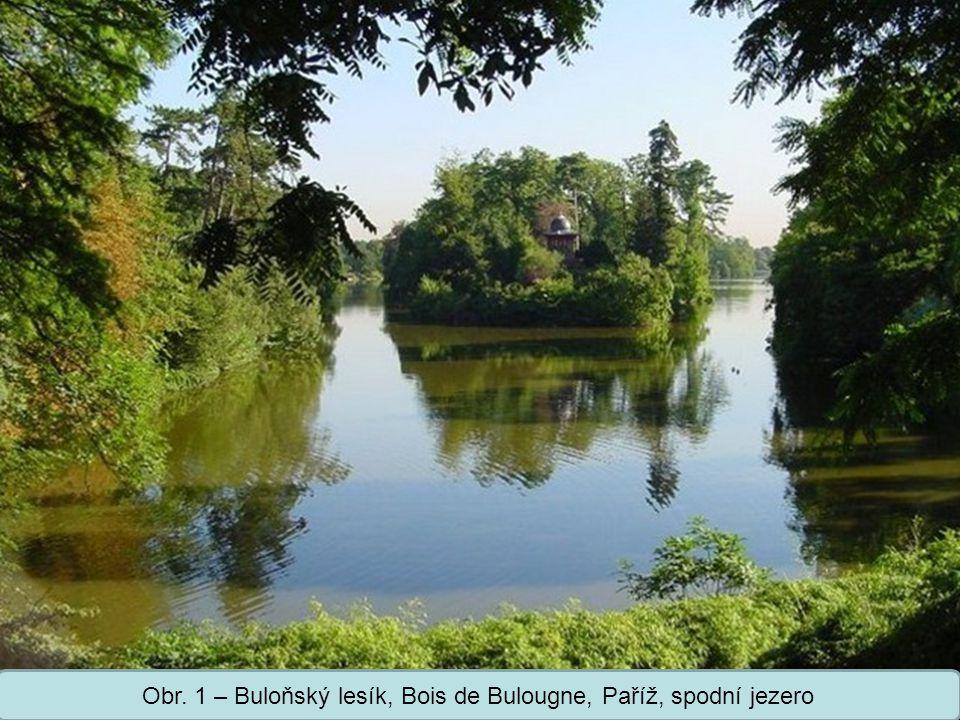Obr. 1 – Buloňský lesík, Bois de Bulougne, Paříž, spodní jezero