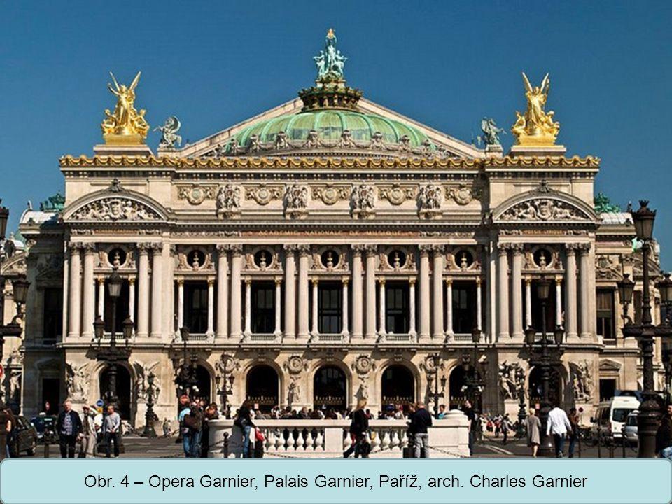 Obr. 4 – Opera Garnier, Palais Garnier, Paříž, arch. Charles Garnier
