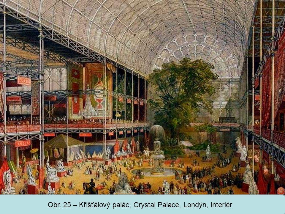 Obr. 25 – Křišťálový palác, Crystal Palace, Londýn, interiér