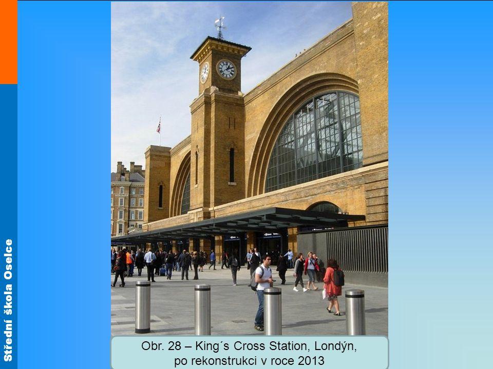 Obr. 28 – King´s Cross Station, Londýn, po rekonstrukci v roce 2013