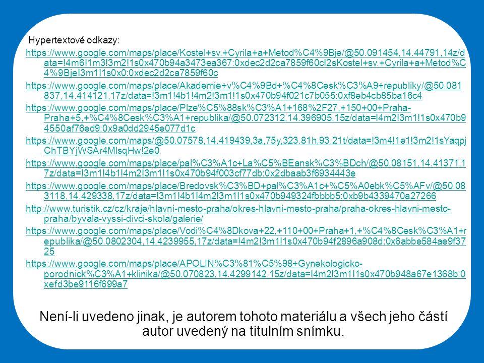 Hypertextové odkazy: