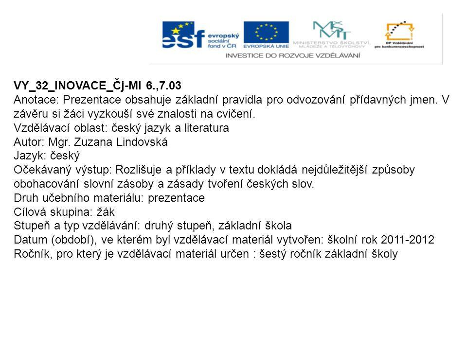 VY_32_INOVACE_Čj-Ml 6.,7.03