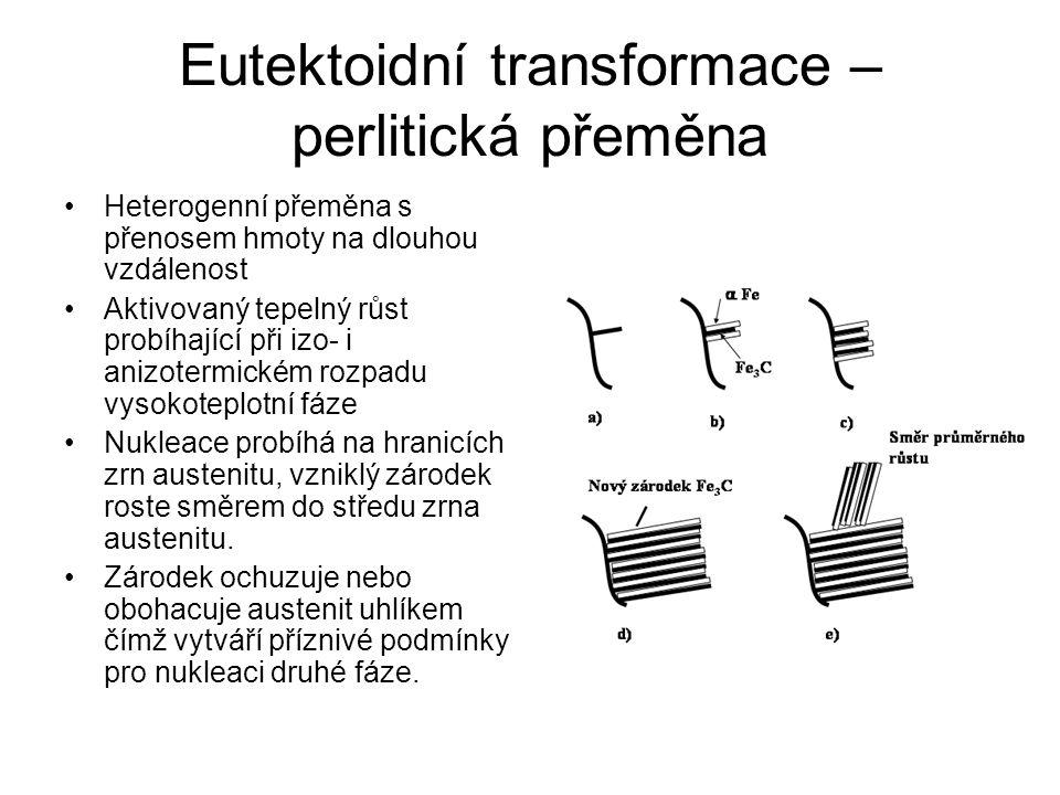 Eutektoidní transformace – perlitická přeměna