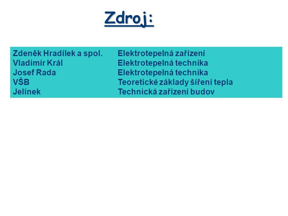 Zdroj: Zdeněk Hradílek a spol. Elektrotepelná zařízení