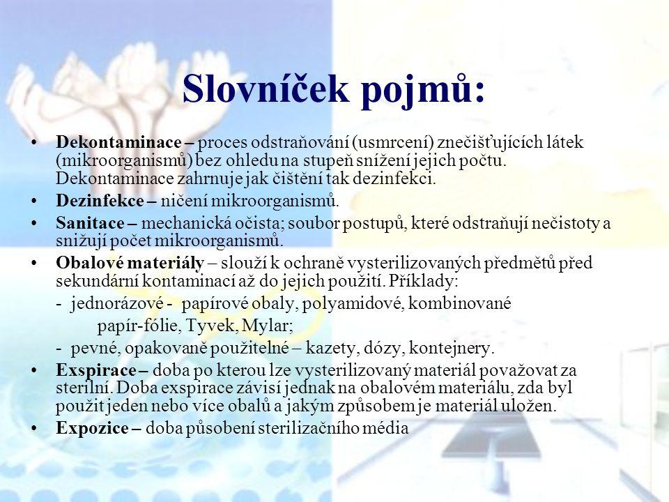 Slovníček pojmů: