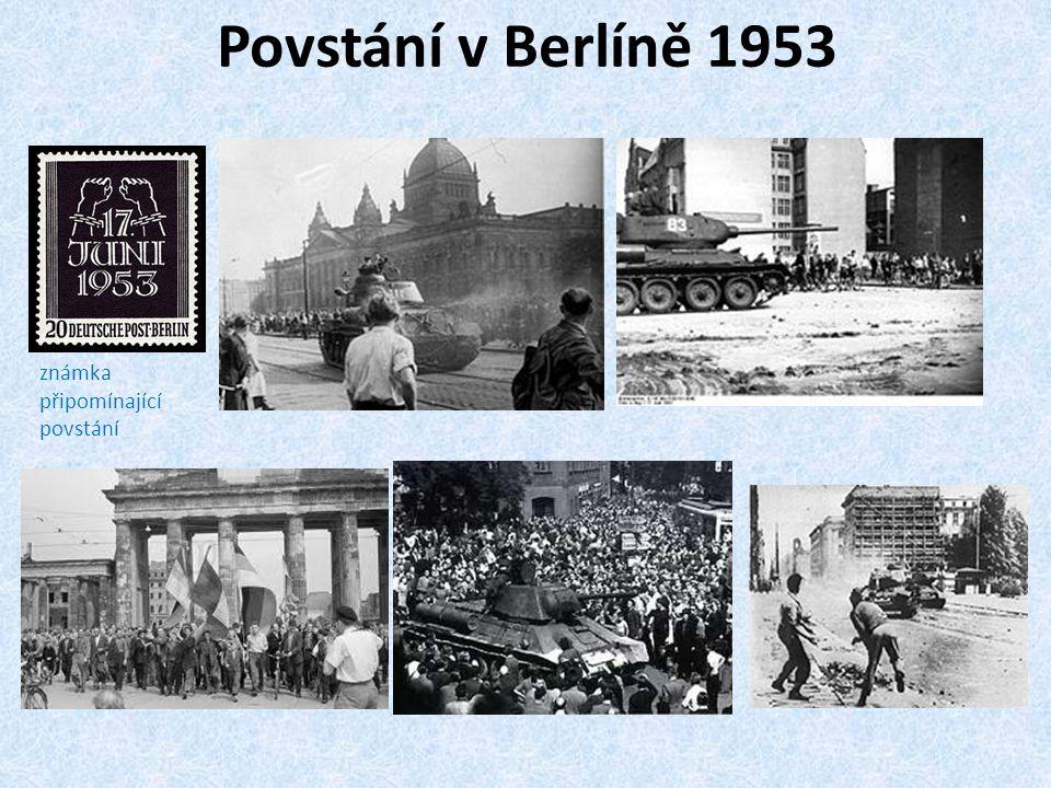 Povstání v Berlíně 1953 známka připomínající povstání
