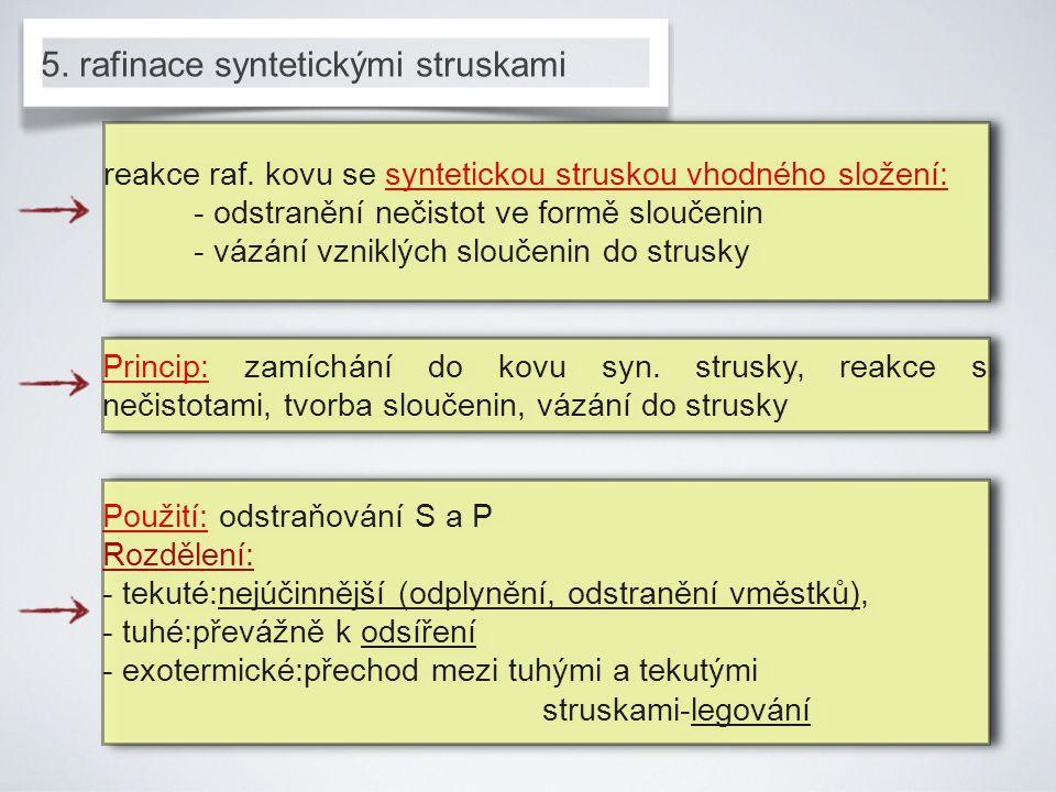 5. rafinace syntetickými struskami