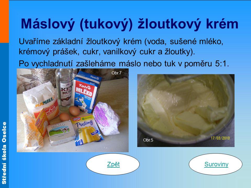 Máslový (tukový) žloutkový krém