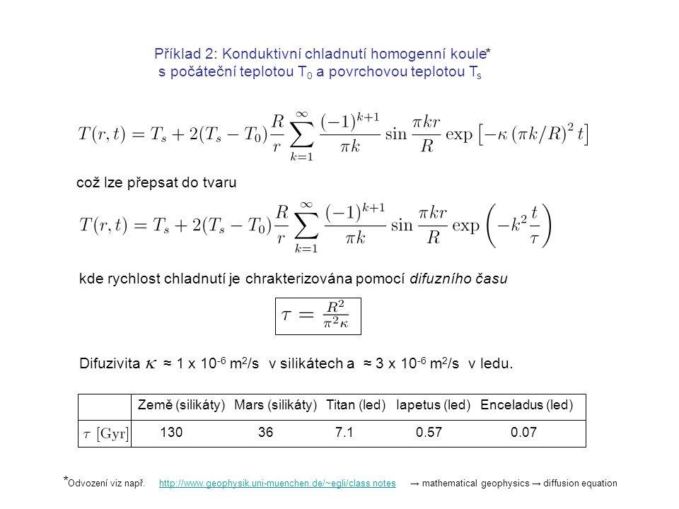Příklad 2: Konduktivní chladnutí homogenní koule