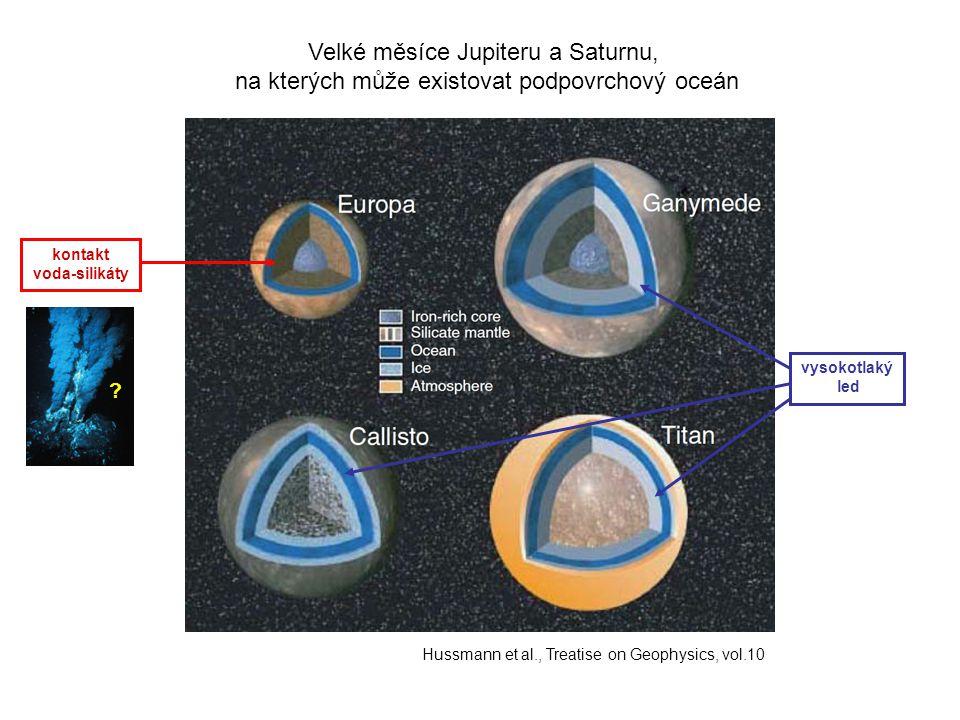 Velké měsíce Jupiteru a Saturnu,