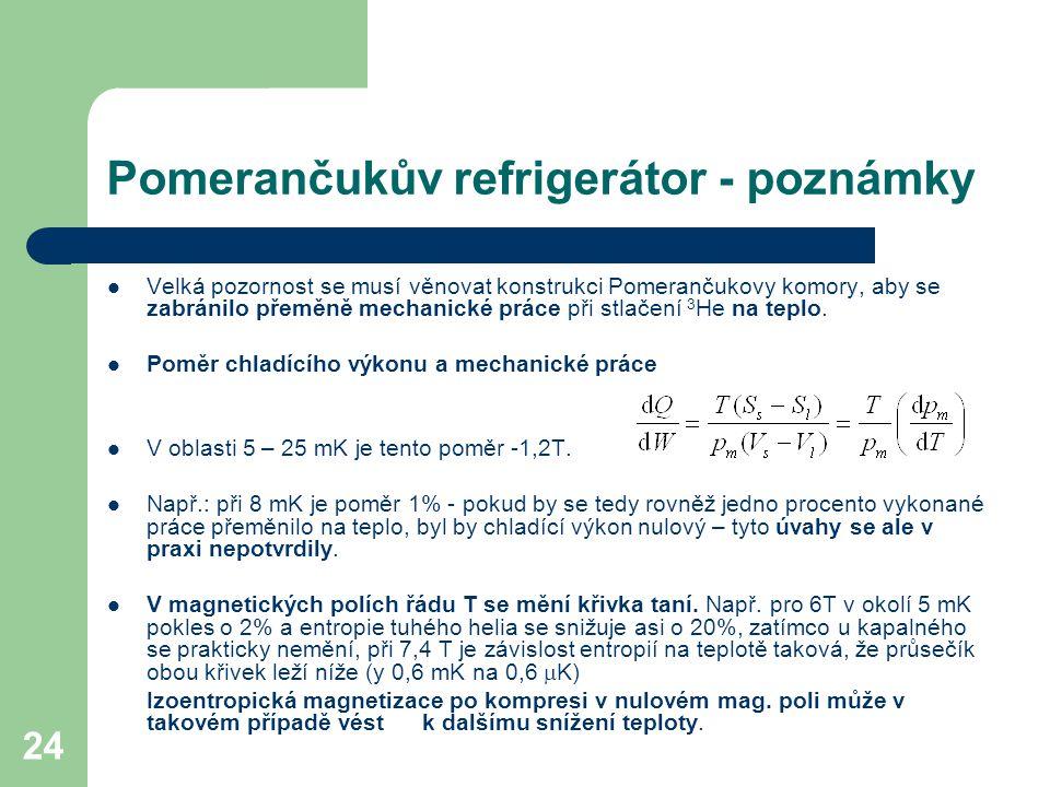Pomerančukův refrigerátor - poznámky