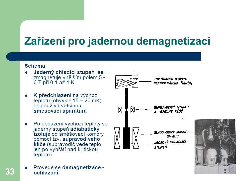 Zařízení pro jadernou demagnetizaci