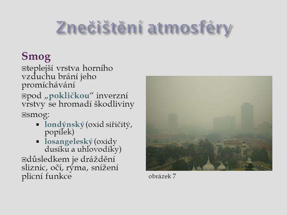 Znečištění atmosféry Smog