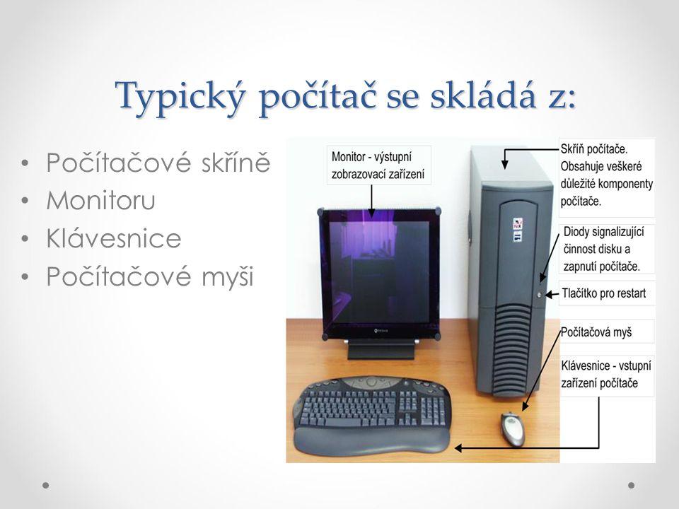Typický počítač se skládá z: