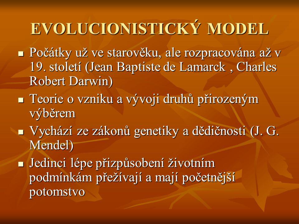 EVOLUCIONISTICKÝ MODEL
