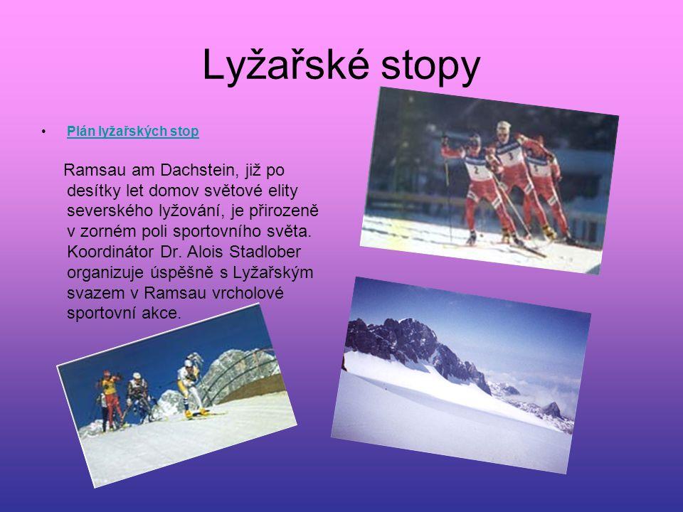 Lyžařské stopy Plán lyžařských stop