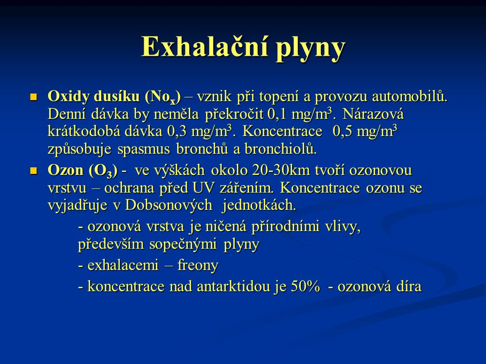 Exhalační plyny