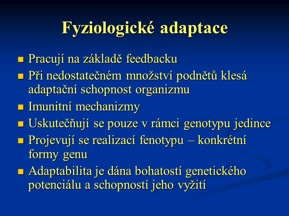 Fyziologické adaptace