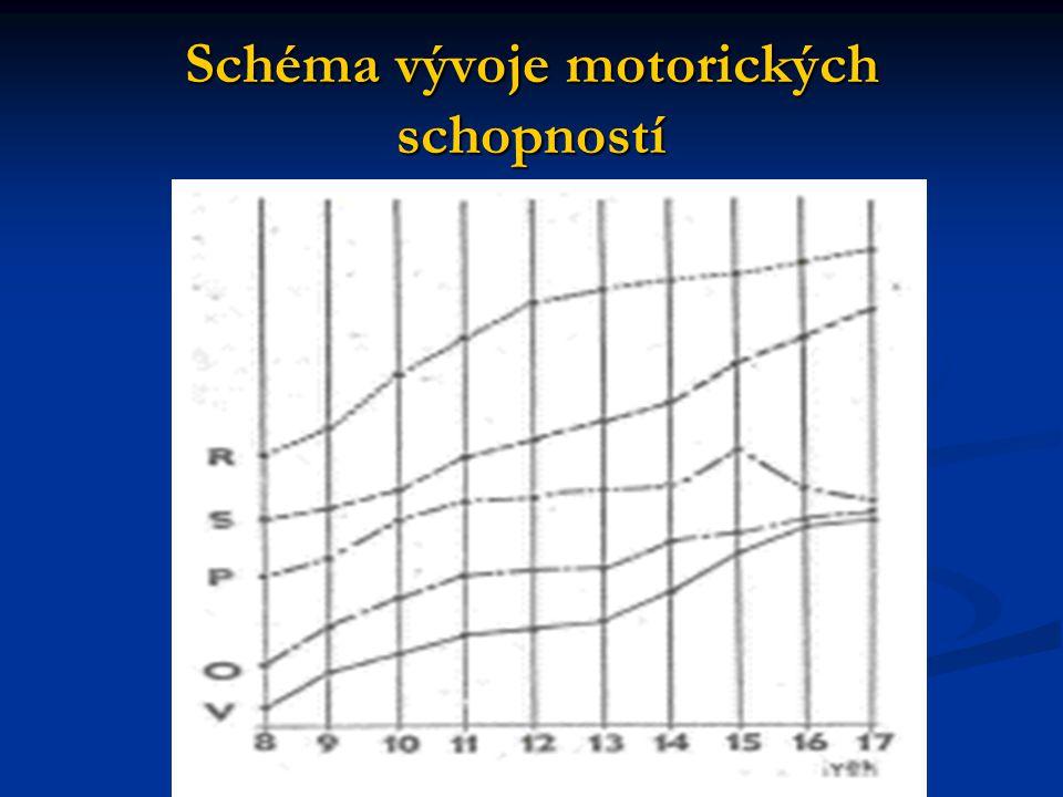 Schéma vývoje motorických schopností