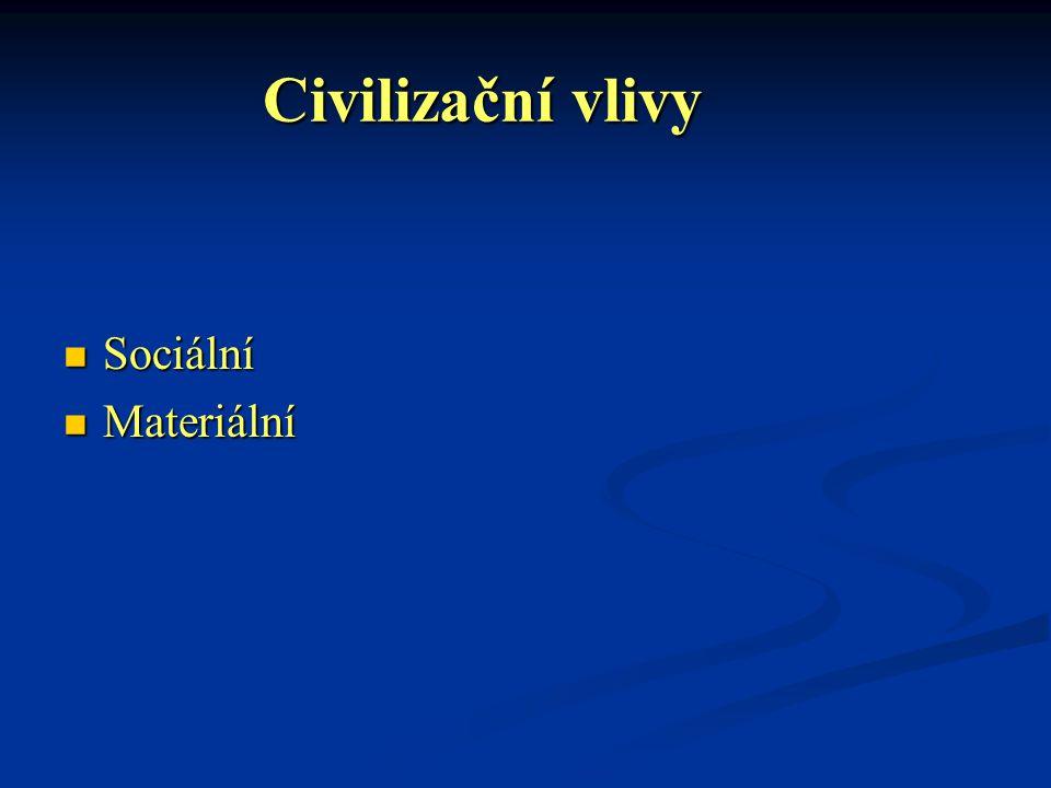 Civilizační vlivy Sociální Materiální