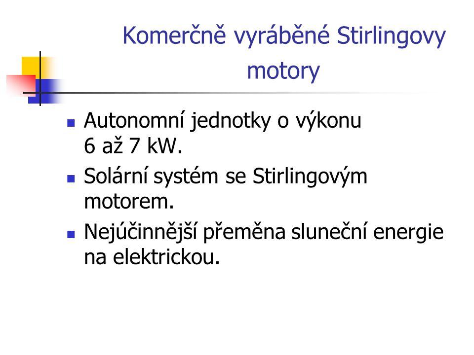 Komerčně vyráběné Stirlingovy motory