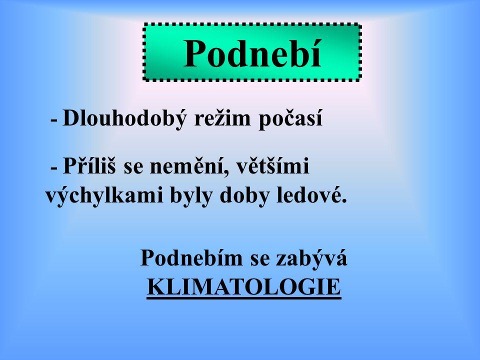 Podnebím se zabývá KLIMATOLOGIE