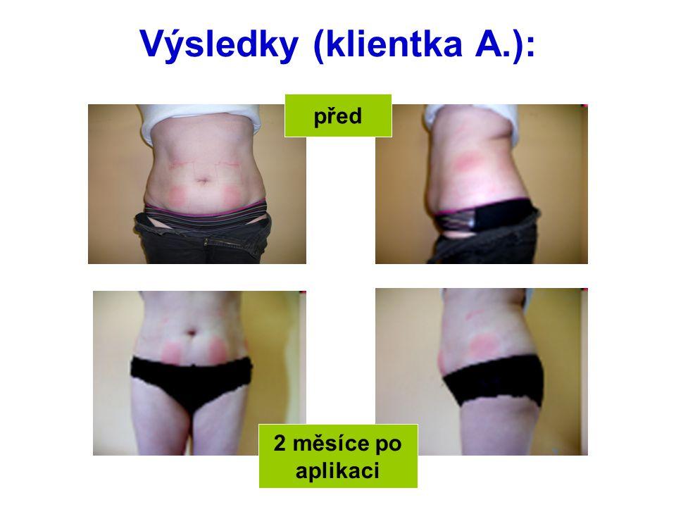 Výsledky (klientka A.):