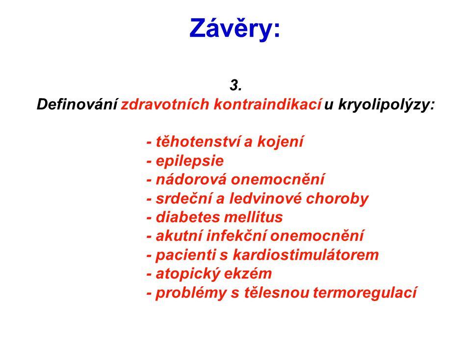 Definování zdravotních kontraindikací u kryolipolýzy: